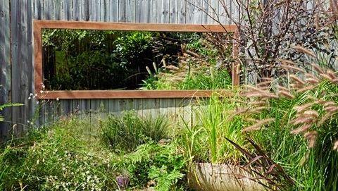 How To Make A Garden Mirror From Better Homes And Gardens Backyard Ideas Pinterest