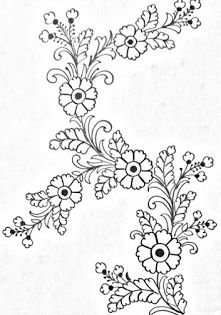 Draw Online Flower Drawing For Embroidery Designs Pencil Sket Floral Design Drawing Flower Drawing Embroidery Designs