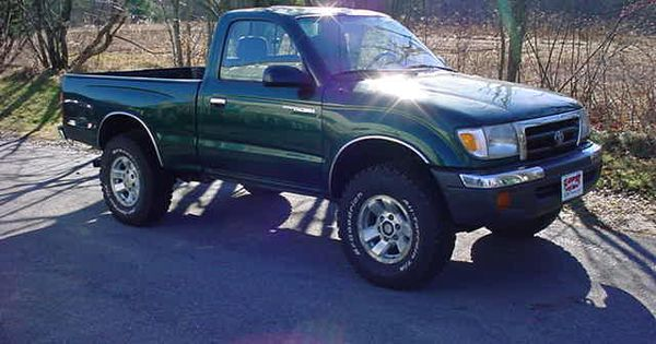 my first car a brand new 1999 green toyota tacoma 4x4 man i had so much fun in that little. Black Bedroom Furniture Sets. Home Design Ideas