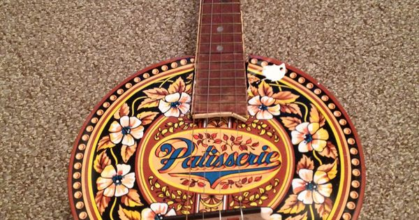 how to make a cookie tin banjo