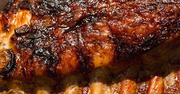 Slow Cooker Pork Sirloin Tip Roast With Balsamic Vinegar, Rosemary ...