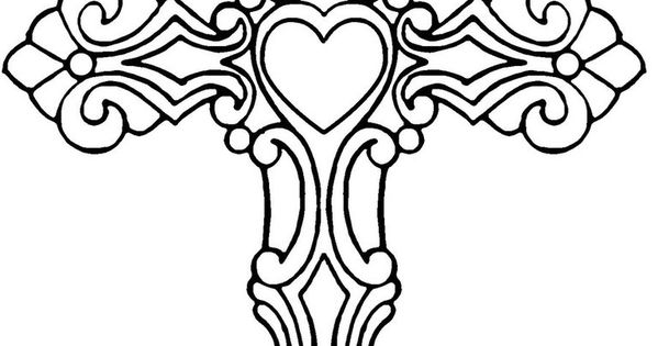 hearts with dragon tattoo drawings | Cross With Heart By Satiricmilk On