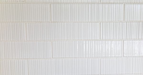 Ann Sacks Tile Savoy Ribbed In White Textiles Wallpaper