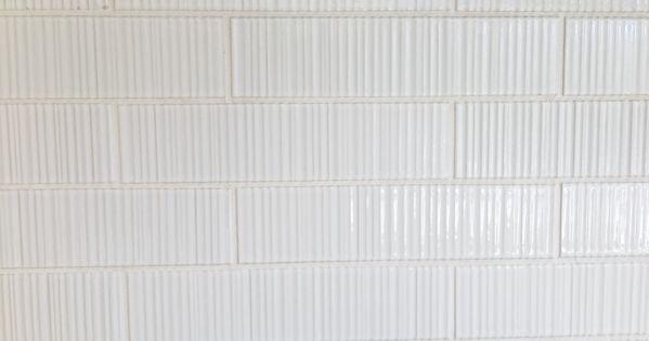Ann Sacks Tile Savoy Ribbed In White Textiles Wallpaper