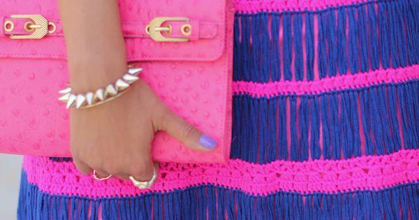 Neon Pink + Blue!