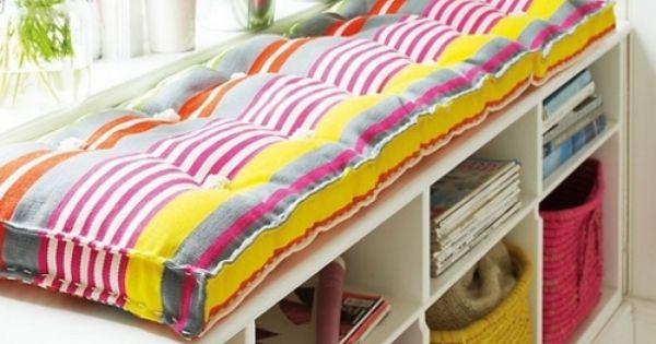 Long windowseat cushion DIY