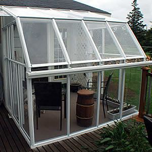 Might Be A Great Extension From Our Garage Eco Sunroom 20 Lean To Greenhouse Kit Acrylic Sunroom Kits Greenhouse Backyard Sanctuary