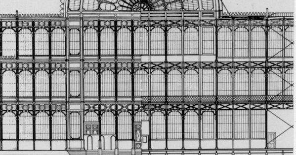 Crystal palace paxton plan 1851 palais d 39 exposition for Architecture victorienne a londres