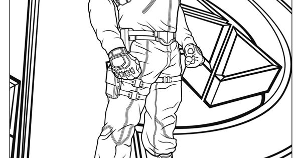 Mighty Avengers Coloring Pages : Nick fury coloring page http papa ueur