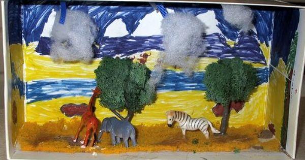 Savannah Biome Diorama Animal Adaptations Projects