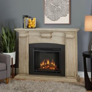 Home Decorators Collection Highland 50 In Faux Stone Mantel Electric Fireplace In Gray White Electric Fireplace Indoor Electric Fireplace Gel Fireplace