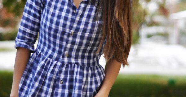 Men's button up to women's button up tutorial (or button up peplum