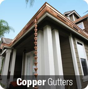 Nothing Is More Beautiful To Us Than Our Copper Gutters On A Marvelous Southern California Home With Images Copper Gutters House Exterior Gutters