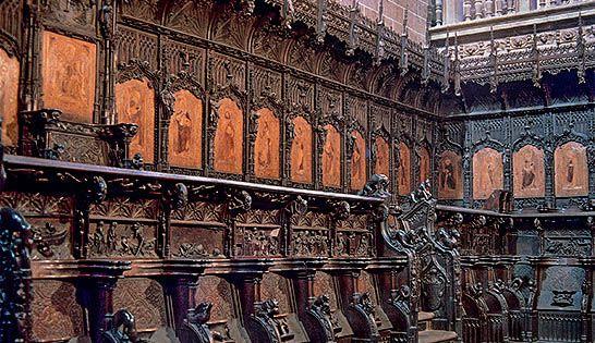 Sillería De Coro De Plasencia 1498 1508 Madera De Nogal La Fama Que Adquirió Rodrigo Alemán Con La Sillería Toledana Hizo Que Fuese Llamado A Plasencia El