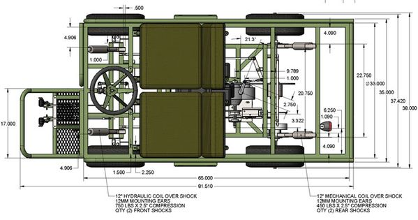 Building Plans For 4x4 : M military mule half scale home build diy go kart