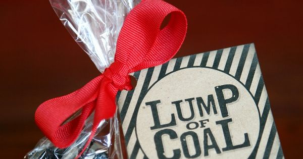 Lump of Coal - Fun {GIFT idea} w/ FREE printable! | I
