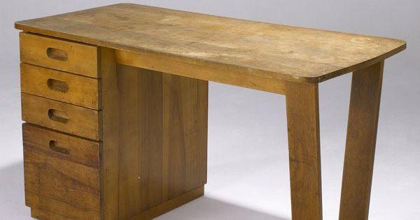 marcel breuer birch plywood desk for bryn mawr college. Black Bedroom Furniture Sets. Home Design Ideas