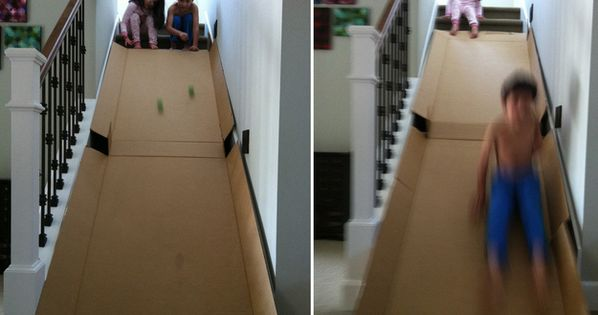 39 Coolest Kids Toys You Can Make Yourself Stair Slide