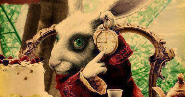You 39 re late alice in wonderland un petit lapin c 39 est - Mon petit lapin s est cache dans le jardin ...
