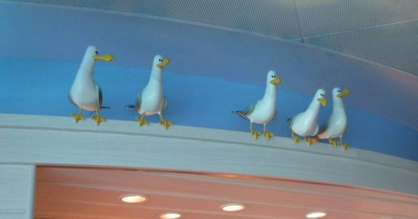 Perched Seagulls Finding Nemo Nemo Bathroom
