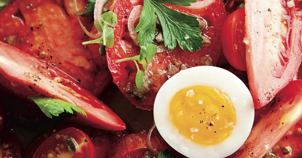 © John Kernick Heirloom Tomato Salad with Anchovy Vinaigrette Recipe Contributed by