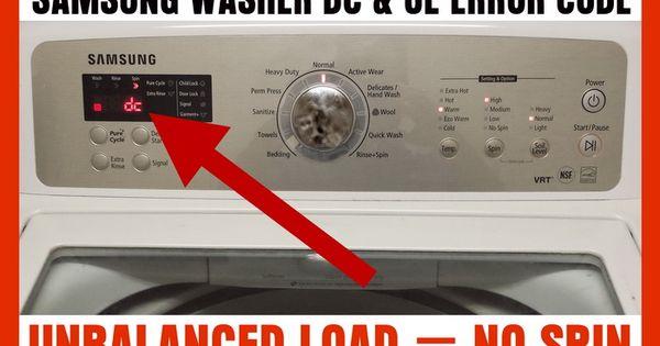 samsung washing machine dc error