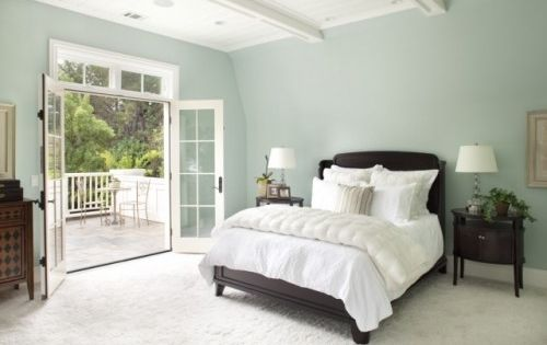 Wicker stitch tranquil bedroom colour scheme sea foam for Dulux paint ideas bedroom