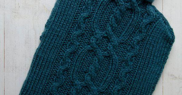 Knitted Hot Water Bottle Cover asinKnitting Pinterest