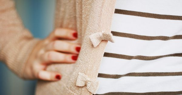 stripes, bow buttons
