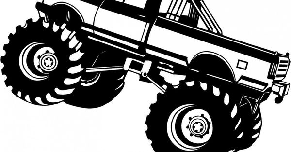 Monster truck drawings google search free silhouette for Aubainerie decoration
