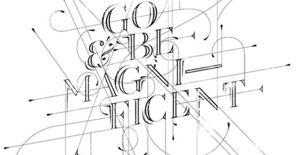 typography, poster, be magnificent!