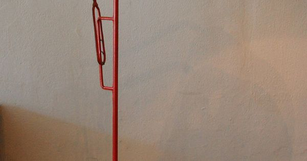 Jacques Adnet Leather Over Metal Floor Lamp C1950