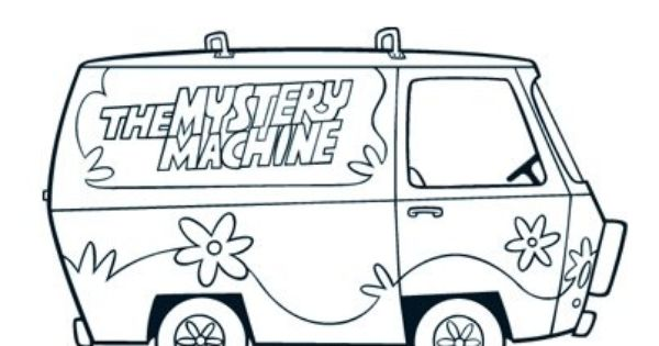 scooby doo mystery machine coloring page scooby doo