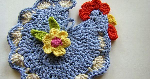 Chicken Pot Holder Free Pattern Crochet Fun Pinterest