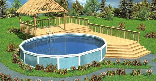 Luxury Split Level Pool Deck With Trellis Project Plan 90005
