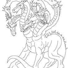 Lernean Hydra The 100 Heads Water Dragon Coloring Page Coloring