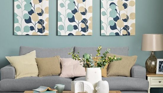 Teal And Cream Living Room Modern Decorating Ideas Ideal Home Wall Art