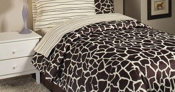 Full Size Giraffe Bedding Set Safari Bedding Giraffe Bedding Bed Linens Luxury Giraffe Room