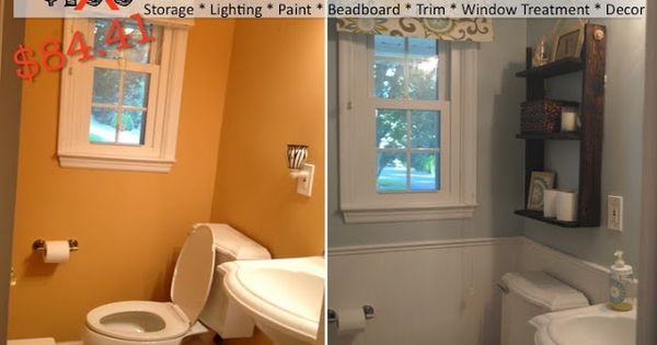 2perfection Decor Basement Coastal Bathroom Reveal: Two It Yourself: REVEAL: $100 Small Bathroom Makeover