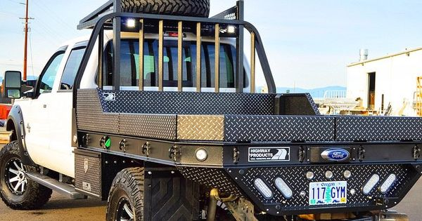 Ford F350 Aluminum Flatbed In Leopard Style Hpi Black W