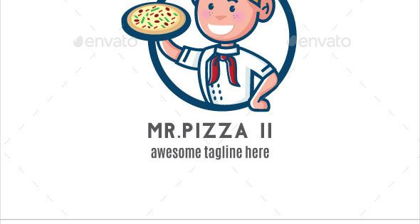 Mr. Pizza II Logo Mascot – Humans Logo Templates