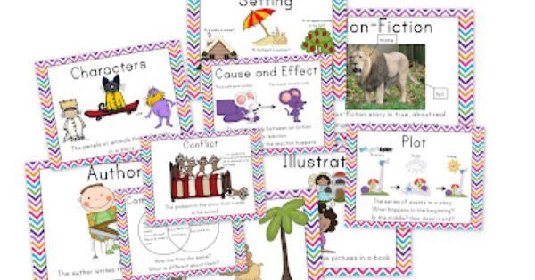 Herding Kats in Kindergarten: story Elements posters