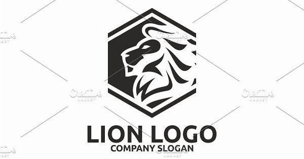 Lion Logo with Hexagon Masking