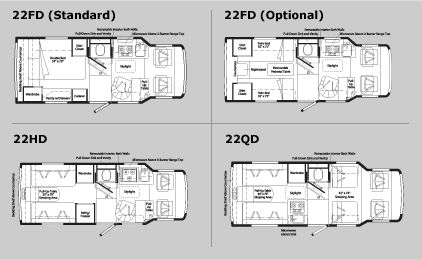 what i want! vw/winnebago rialta floor plans & specifications