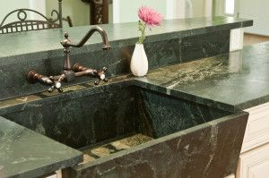 Traditional Green Soapstone Sink Stone Countertops Countertops