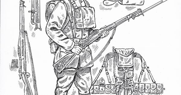 WW1 Coloring page from First Division