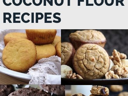 Coconut flour recipes for everything including breads, muffins, cookies, cakes, biscuits and