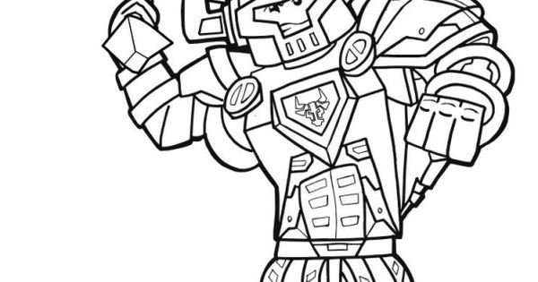 lego nexo knights  axl  kleurplaten  pinterest
