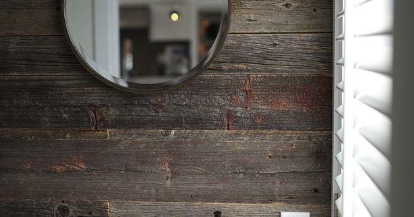 Salle de bain bois de grange pinterest for Miroir bois de grange