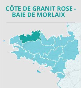 Cote De Granit Rose Baie De Morlaix Carte Frankreich